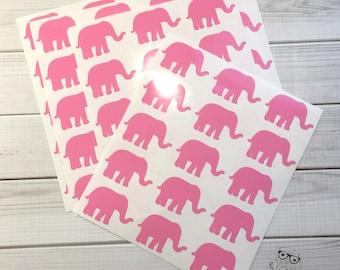 Elephant Planner Stickers, 70, Elephant Stickers, Elephant Sticker Set, Elephant Envelope Seals, Elephant Envelope Stickers, Elephant Decals