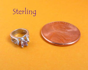 Sterling Ring Charm - Vintage Silver Engagement Ring Charm, Pendant, Starter Charm, Gift Idea