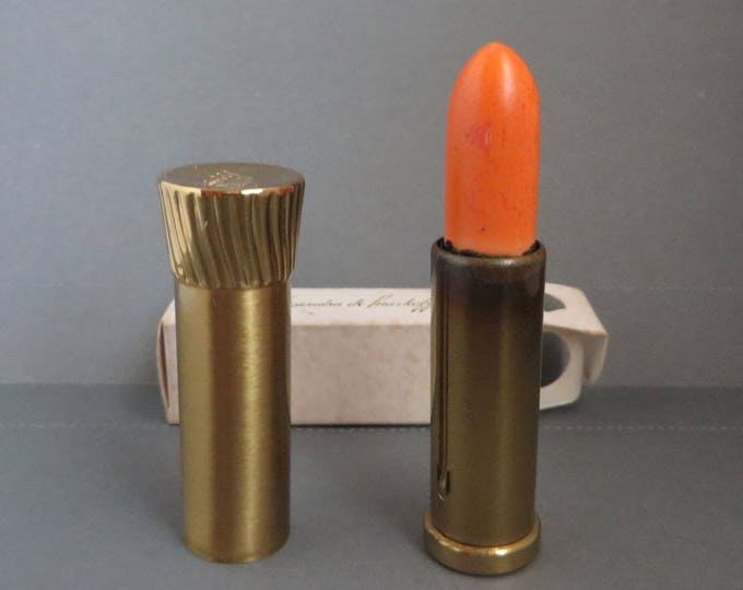 Alexandra de Markoff Lipstick - Vintage 1960s Apricot Lipstick, Collectors Makeup