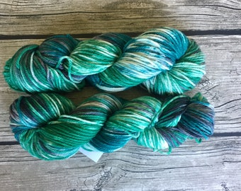 There Is No Spoon - Superwash Merino Hand Dyed Yarn - Worsted Weight Yarn - Hand Dyed Yarn