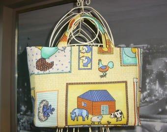 Fancy bag Tote pattern junior casserole on the farm