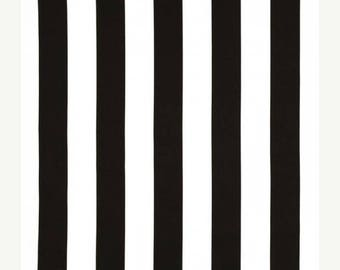 "Black and White Finnigan Tuxedo Outdoor Fabric - 2"" Black and White Deck Stripe Fabric - Fabric by the 1/2 yard - SHIPS SAME DAY"