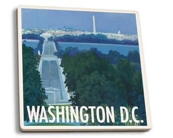 Arlington National Cemetery, Washington DC (Set of 4 Ceramic Coasters)