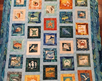 Quilted Coastal Throw 50x62