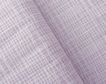 Jane Makower 'Discounted' Inprint Lilac Check Toner Patchwork Quilting Dressmaking Fabric