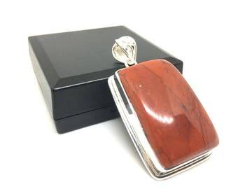 Red Jasper Pendant 925 Silver