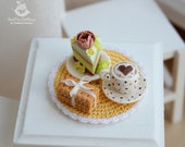 A set of miniature foods for Dollhouse and dolls. 1:12 scale.Handmade, polymer clay. Dollhouse food. Miniature food.