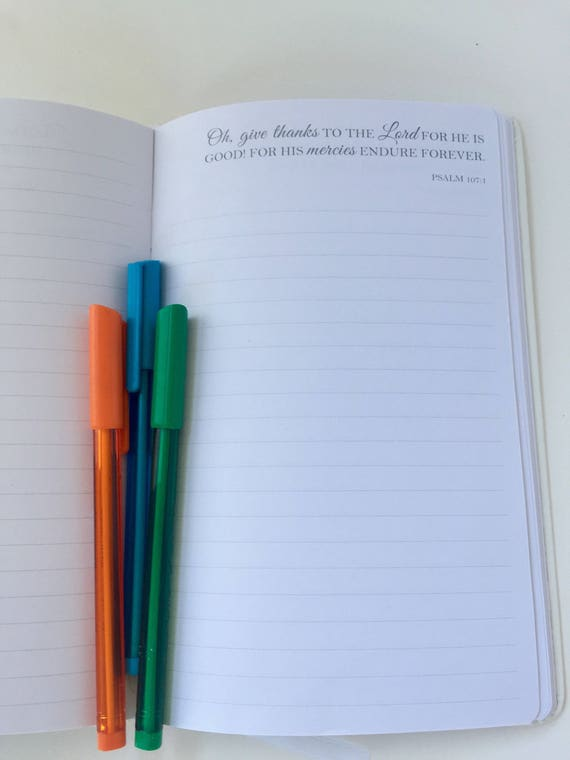 Journal - SOLD FOR CHARITY - Daily Religious Verse. Diary. Poetry Writing. Notebook
