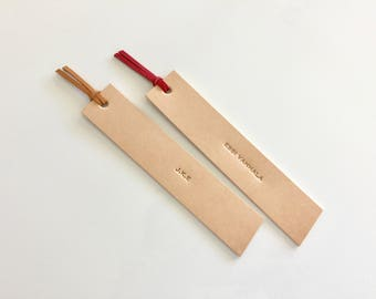 Personalized Bookmark/ Leather Bookmark/ Named Bookmark/ 3rd Anniversary gift/ gifts