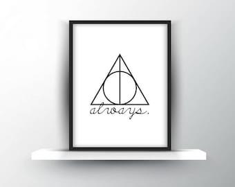 Harry Potter | Always + Deathly Hallows Symbol | Digital Download