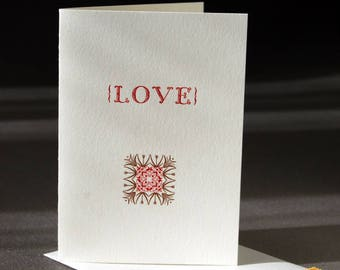 Love card, letterpress printed