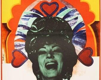 50% Poster Sale Movie Poster - The Csardas Princess, 1970s Poster, Graphic Design by Renáta Vlachová, Original Vintage Movie Poster, Wall Ar