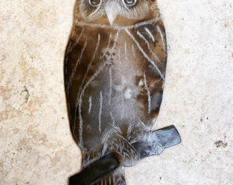 Annealed Steel Owl Ornament