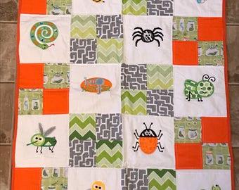 Jar Of Bugs Handmade Quilt