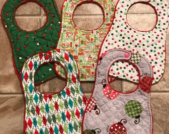 CLOSEOUT CHRISTMAS BIBS