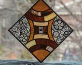 Steampunk Stained Glass Suncatcher