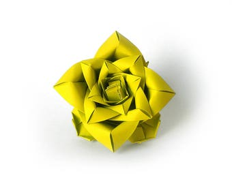 Lime green flower - designer ring