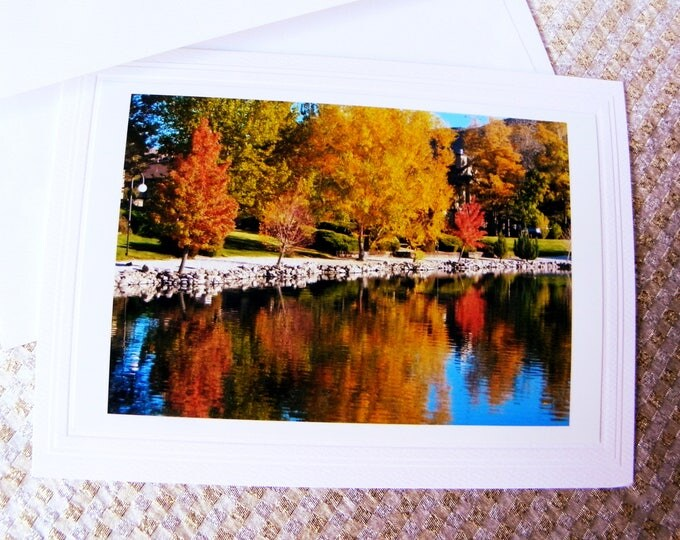 COLORFUL FALL TREES Photo Greeting Card created and handcrafted by Pam Ponsart of Pam's Fab Photos