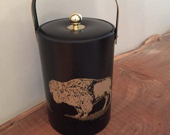 Couroc Mid Century Buffalo Ice Bucket/Mid Century Ice Bucket