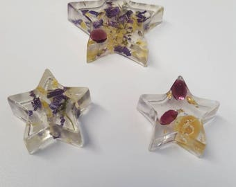 Wildflower, Amethyst and Garnet 3 pc. Magnet Set (D)