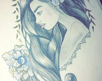 Original Blue Ivy Sketch