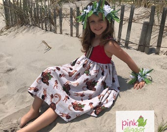 Girls Moana Dress for Birthday, Disney, Summer 12m-12 girls Outfit