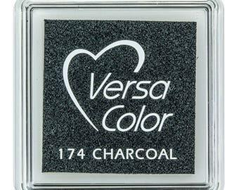 Dark gray ink pad, small ink pads, black pigment ink, VersaColor charcoal, versacraft, scrapbooking, stationery, dark grey, studio maas