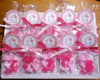 Flamingo Party Favors - Pink Flamingo Favors, Florida Flamingo Party Decor, Flamingo Soap Favors - Set of 10