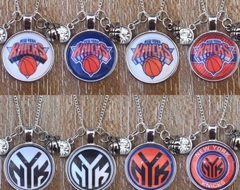 New York Knicks Baskebtall Inspired Fan Charm Necklace