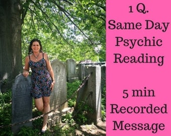 1Q. Psychic Reading, Same Day Psychic Reading, Same Day Reading, Fast Psychic Reading, Psychic Medium,  Love