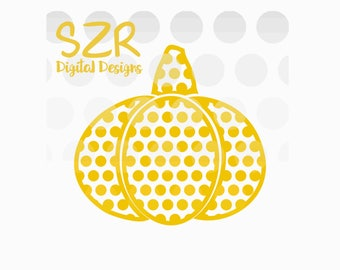 Thanksgiving Polka Dot Pumpkin SVG, DXF and EPS digital file
