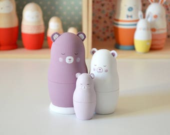 """Les poupées russes """"Famille Ours oursin"""""""