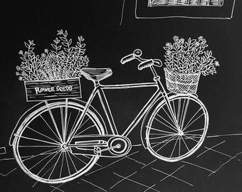 Bicycle on the Streets of Roma A5 Print