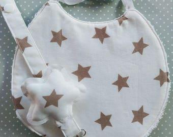 Newborn-bib-baby gift-Pacifier and bib clip-baby-baby set-baby shower-bib and Chupetero-Chupetero