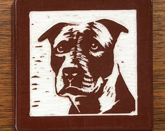 Diamond Pitbull Ceramic Tile Brown