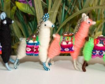 Miniature Tiny LLama Key chain handmade set of 6