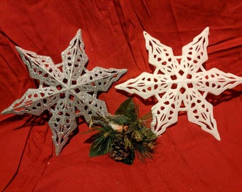 Sparkle Snowflake Lighted Christmas Tree Topper
