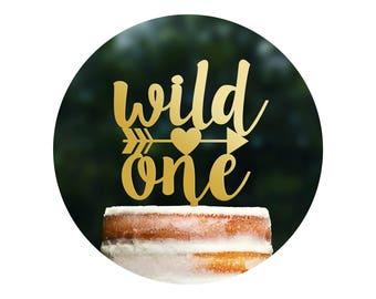 Cute Wild One Cake Topper, Tribal Kids Cake Topper, Baby Shower Topper, Kids Birthday Cake Topper, Baby Shower Decor, First Birthday (T323)