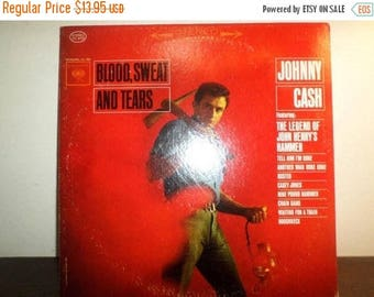 Save 30% Today Vintage 1963 Vinyl LP Record Blood Sweat and Tears Johnny Cash Very Good Condition Stereo 8964