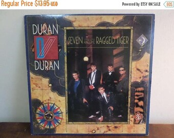 Save 30% Today 1983 Vintage Duran Duran LP Record Seven and the Ragged Tiger Excellent Condition 15227