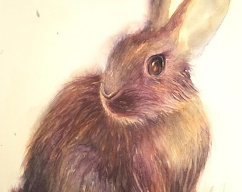 Rabbit on the grass (free shipping)