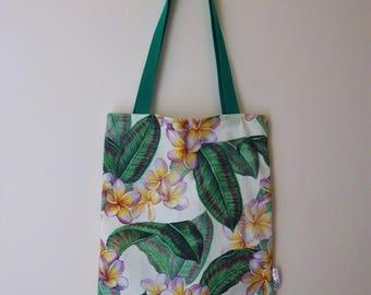 Plumeria Tropical Tote bag (large)