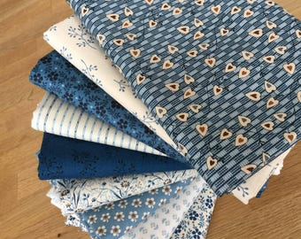 Blue Sky Quilting Fat Quarter JUMBO Bundle by Makower Floral Fabrics