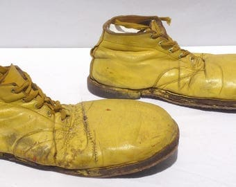 2 Pair of Circus or Carnival Clown Shoes. Great old unusual folk art. Very decorative and folky.