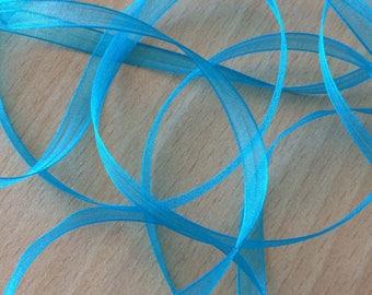 turquoise chiffon Ribbon 384 elegant and translucent