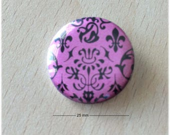 "badge 25 mm Arabesque ""fuchsia"""