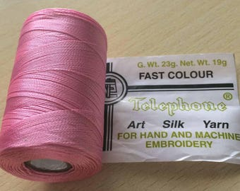 Rayon thread / 18 pink artificial silk
