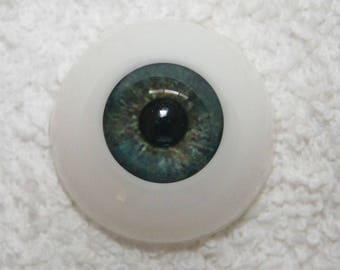 EyEcO EyEs PoLyGLaSs Eyes WoOdLaNd GrEeN 24MM ~ REBORN DOLL SUPPLIES