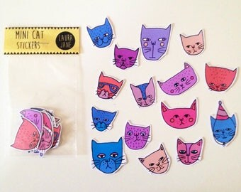 15 individual cat stickers!