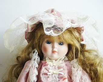 """Vintage Collectible Porcelain Doll Seymour Mann Porcelain Connoisseur Girl Doll 16""""tall Limited Edition Marked"""